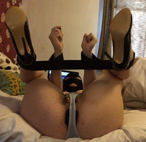 Trying to orgasm with clamps on my labia until I cried