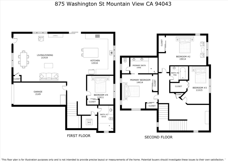 875 & 877 Washington St, Mountain View, CA 94043 -