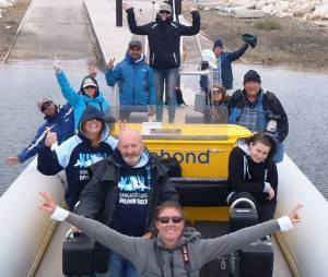 Kangaroo Island Dolphin Watch volunteers in action, October 2014