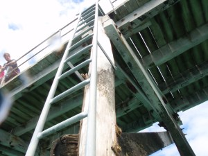 The new ladder at Second Valley jetty