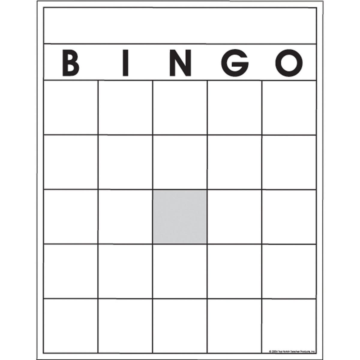 Blanco Tarjetas De Bingo