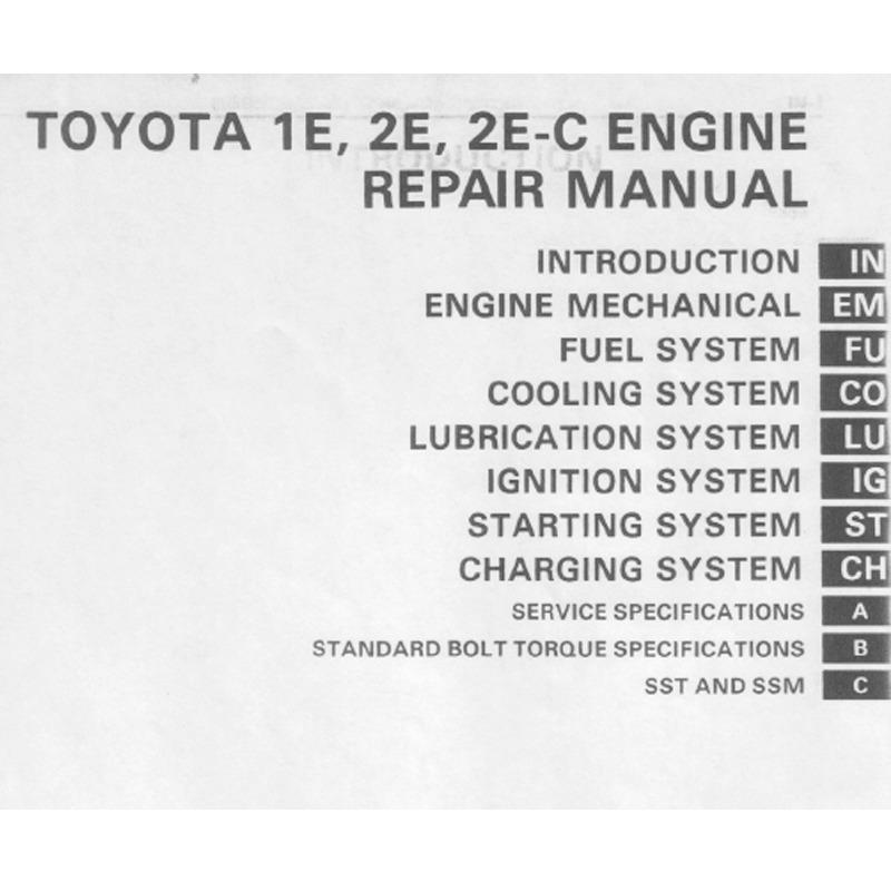 Manual De Reparación Motor Toyota Starlet 1e 2e 2e-c
