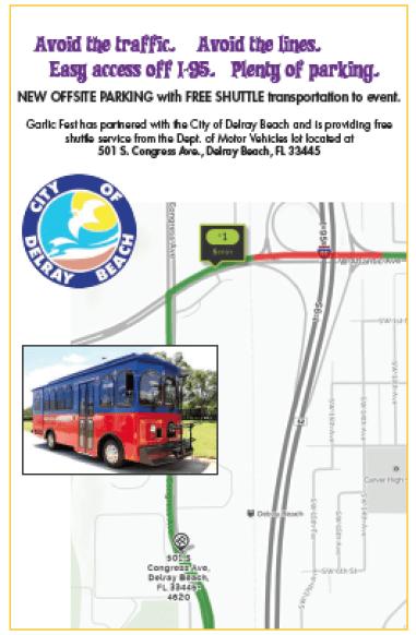Parking and Transit   South Florida Garlic Fest