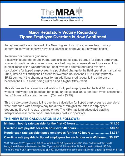 tipped employees massachusetts