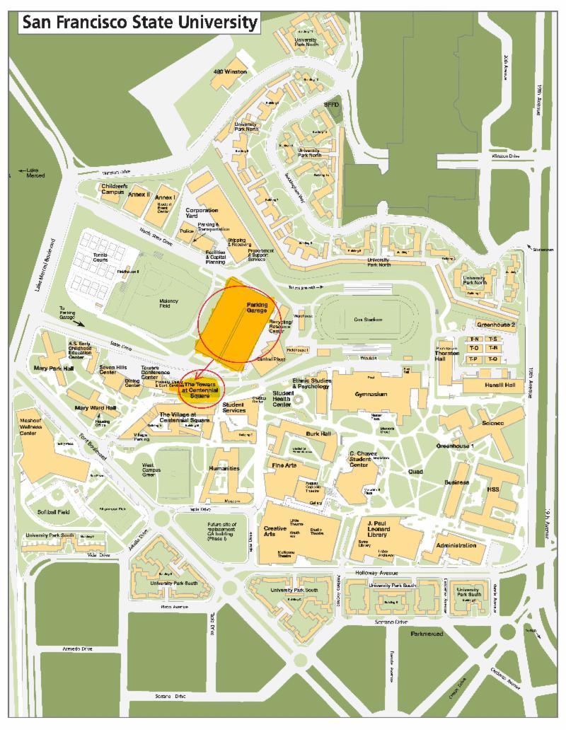 Sfsu Campus Map : campus, Anniversary, Start, Strike, State