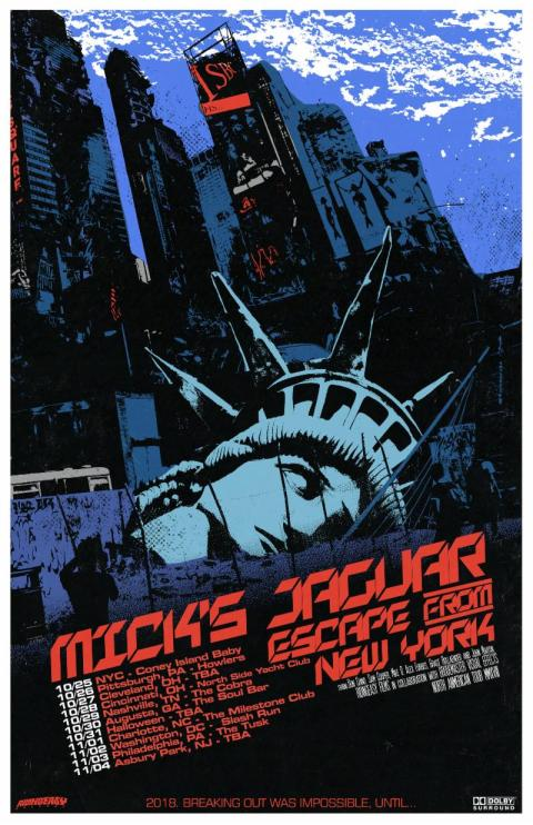 Mick's Jaguar US Tour