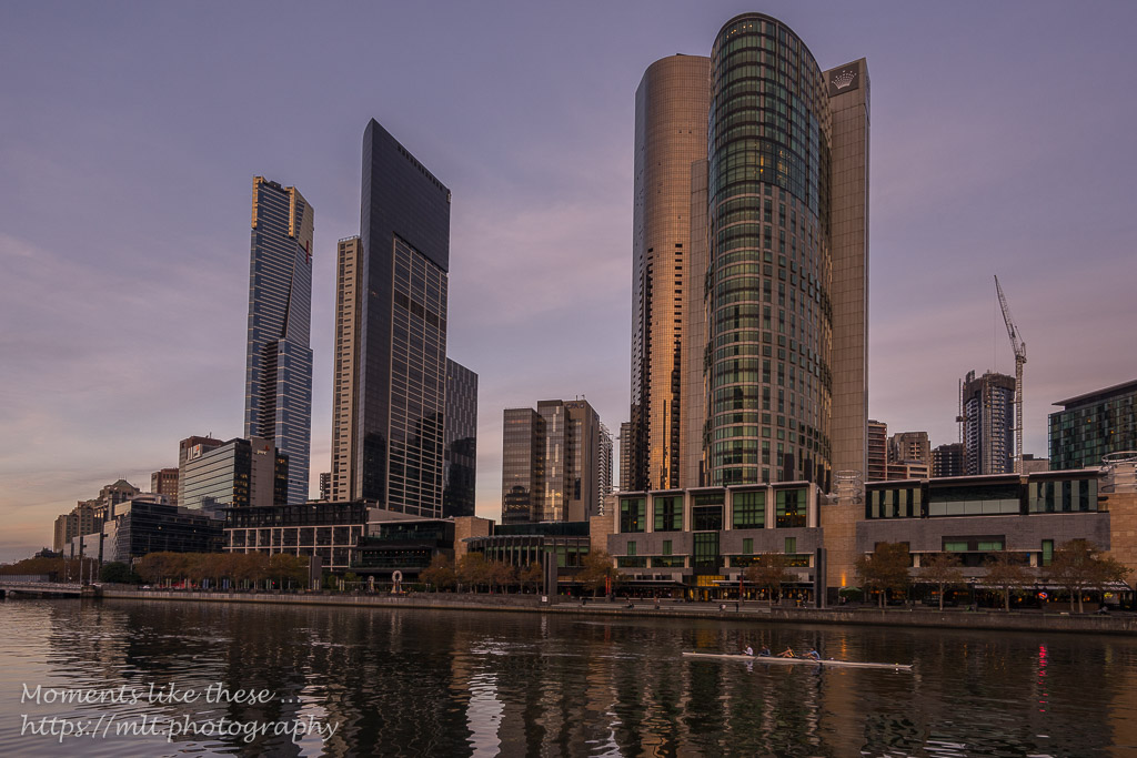 Crown Towers at dusk