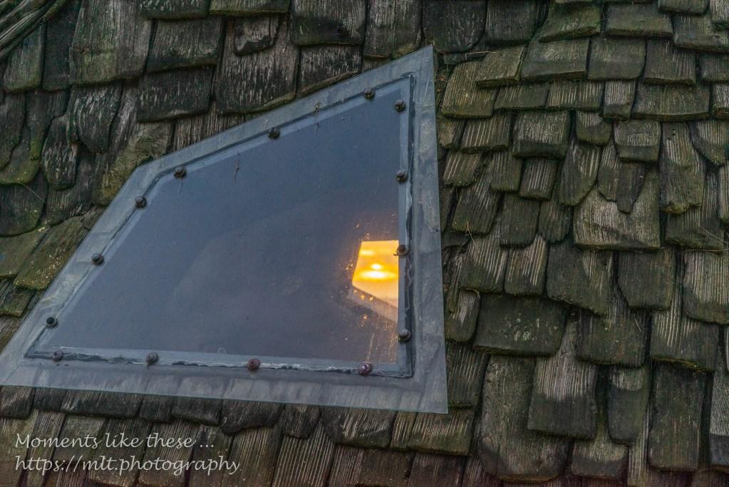 Sunset through the windows