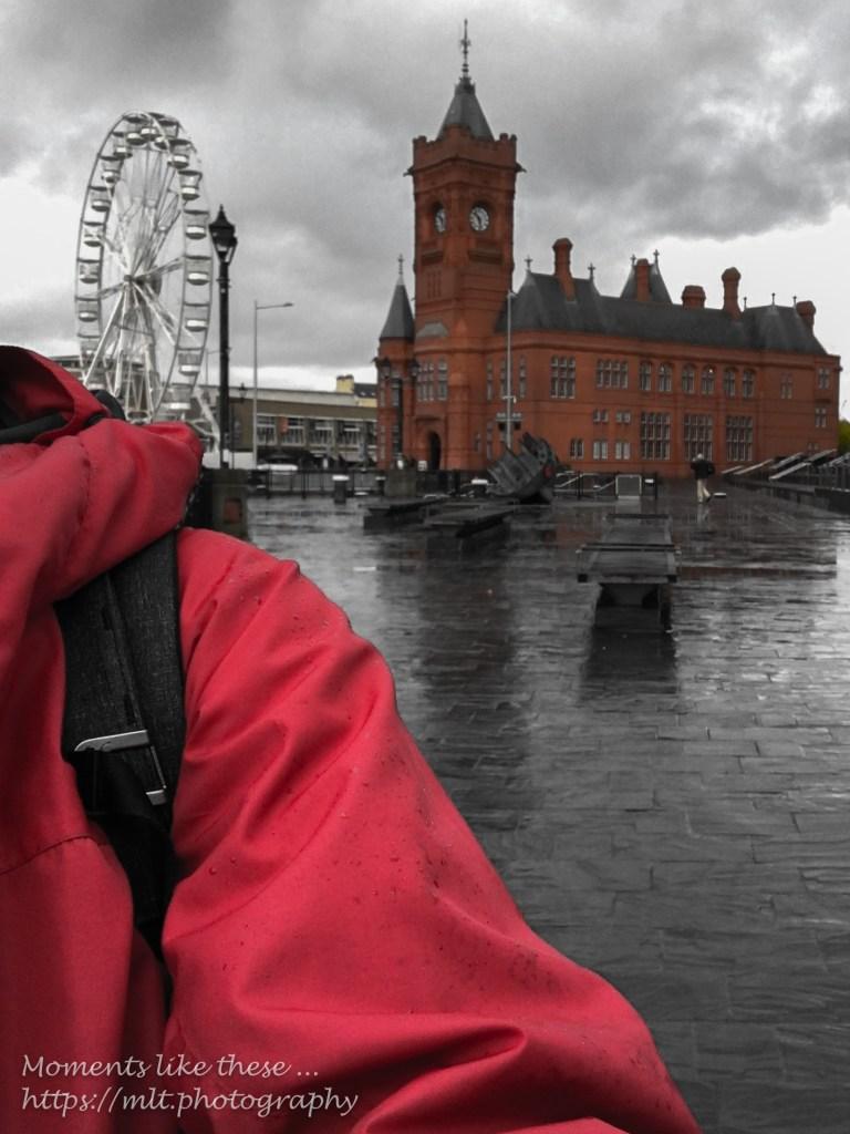 A pierhead red selfie