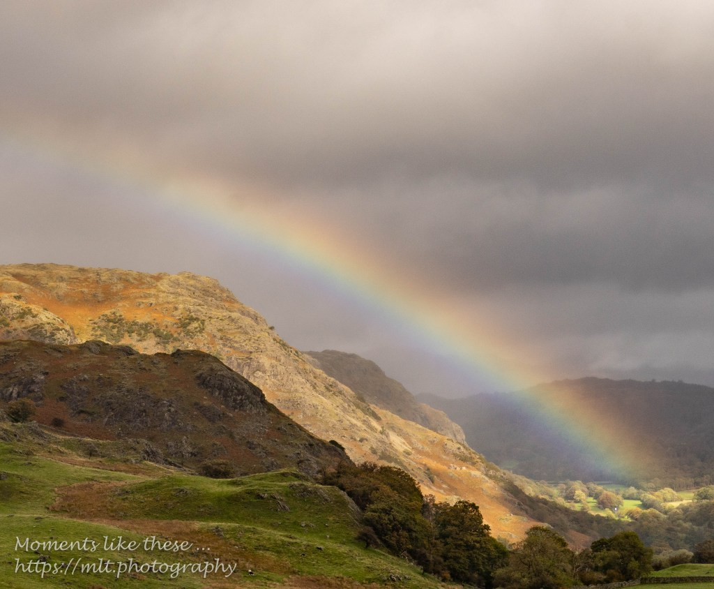Rainbow from Walna Scar Road, Coniston