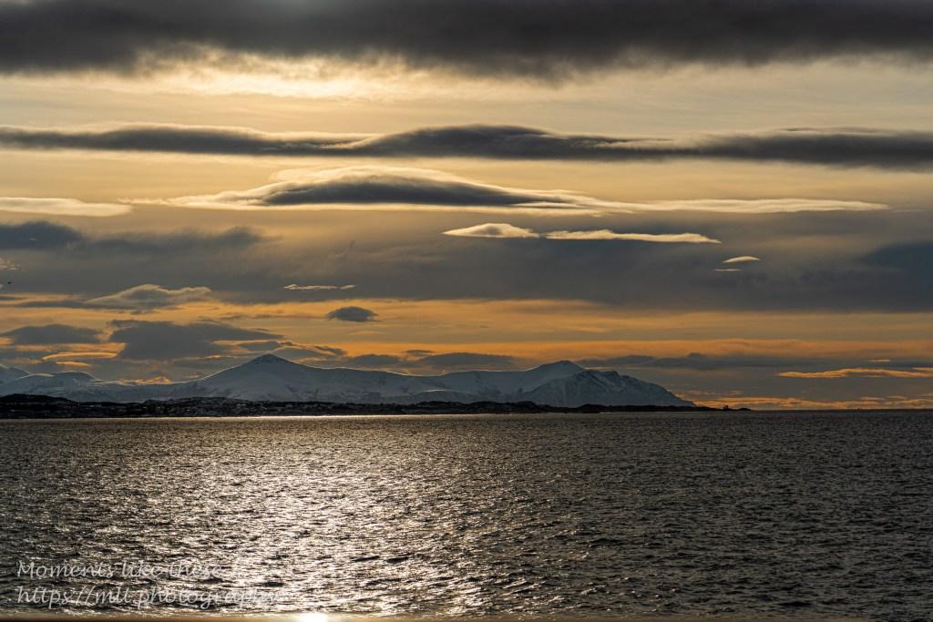 Sunrise and sunset along the Norway Coast