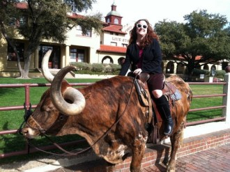 Teen Librarian Dawn Rutherford is moo-ving on.