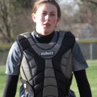 The Hawks' Hannah Fickle was the only MTHS player with an extra base hit Monday.