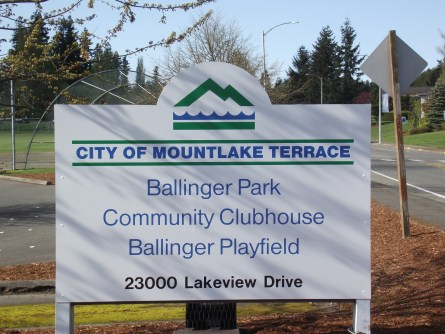New Ballinger Park sign 001