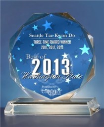 2013 US Commerce Award for Seattle Tae Kwon Do
