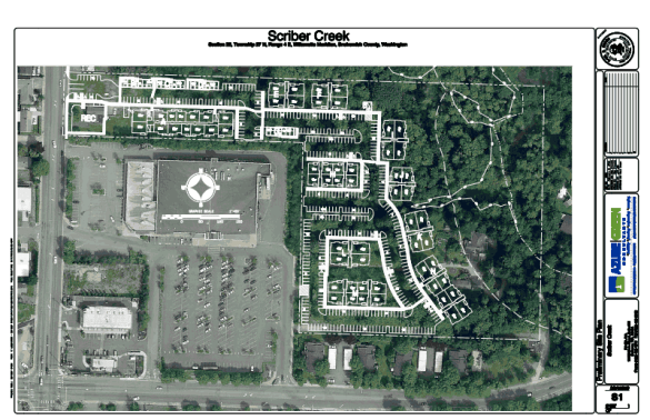 Initial plans for the proposed Scriber Creek Apartments.