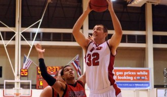Zach Wilde playing during his senior year at University of Hawaii-Hilo.