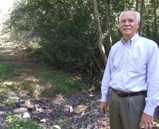 MLT business owner Tom Walker welcomes discussions with the city regarding the possible purchase of land he owns next to the Interurban Trail and the Nelson Business Park along Hall Creek