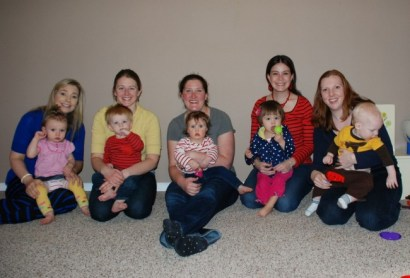 Moms and babies from a previous South Snohomish County Baby Peppers group.