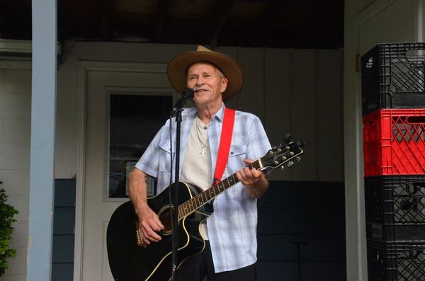 The annual MLT Senior Center Barbecue Thursday provided guests with great food and great entertainment.  Vern Percival of the Huckabillys was on the program performing a range of old and new country tunes. (Photos by Larry Vogel)