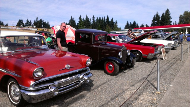 Cars on display during the 2012 show.