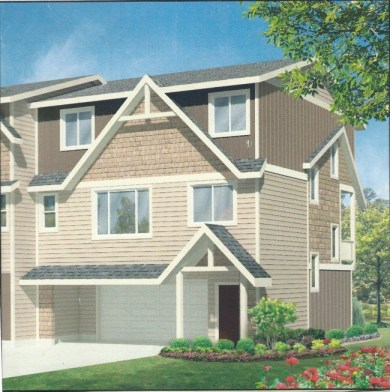 Drawing of a completed Brook Glen townhouse