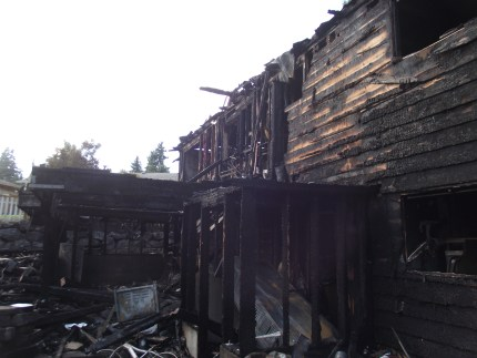 Arson is believed to be the cause of the fire that ravaged this home Sept 18.