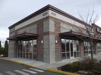 This is the available commercial space listed on the 420 Pot Stop state retail marijuana business license application, 4311-212th St. S.W., #100.
