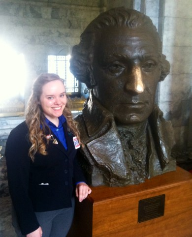 Haeley Johnston at state CTSO day in Olympia, Feb. 5.