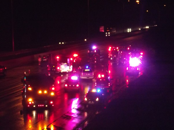 An accident involving a tanker truck closed northbound I-5 Sunday night after 11:30 p.m.