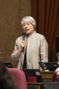 Rep. Ruth Kagi speaking in favor of HB 2165 on the floor of the Washington State House of Representatives last week.