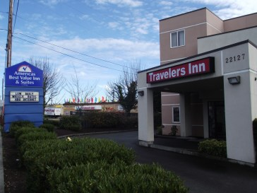 The former Travelers Lodge, now known as Travelers Inn, on Highway 99 in Edmonds.