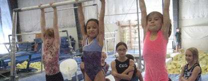 Among the summer classes offered in MLT: archery and gymnastics.