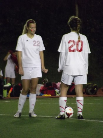 ily Hart (left) and the Mountlake Terrace Hawks girls soccer team begins district tournament play on Saturday when they face Ferndale.