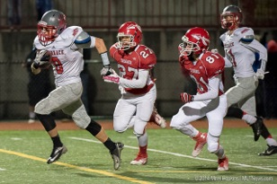 Mountlake Terrace's Loren Lacasse runs for a touchdown against Marysville-Pilchuck during a 3A state playoff game Friday at Quil Ceda Stadium in Marysville. (Photos by Mark Hopkins)