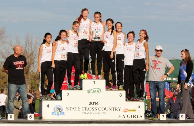 MTHS girls xc 2nd place at state, 2014