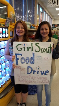 MLT girl scout food drive, 2014 (1)