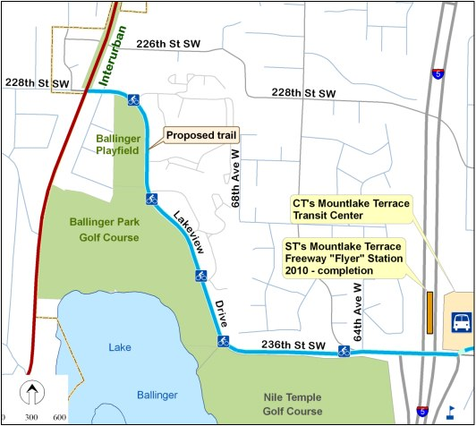 Map of the Lakeview Trail; construction of the shared-use path is expected to begin in early to mid-2015