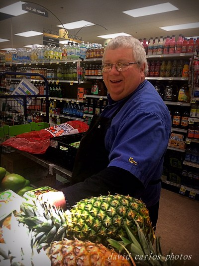 """Dennis Knapp will be retiring in 2 days from QFC in Mountlake Terrace.  He's been in the grocery business for over 30 years, the last 8 at the Terrace QFC.  What will he do in retirement?  """"Golf, sponsor sprint car racing,  travel a bit.""""  What will he miss about working?  """"The people.   Always the people.  The customers that are good."""""""