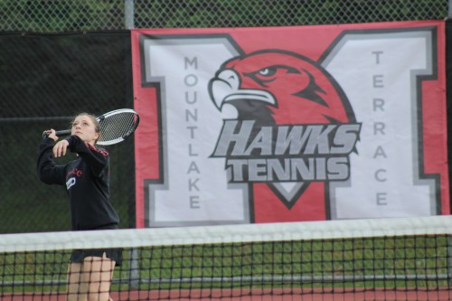 Mountlake Terrace's Allison Lorraine picked up the win in the No. 3 singles match.