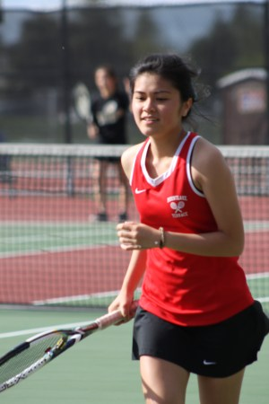 Mountlake Terrace's Brianna Tran competed in the No. 4 singles match.