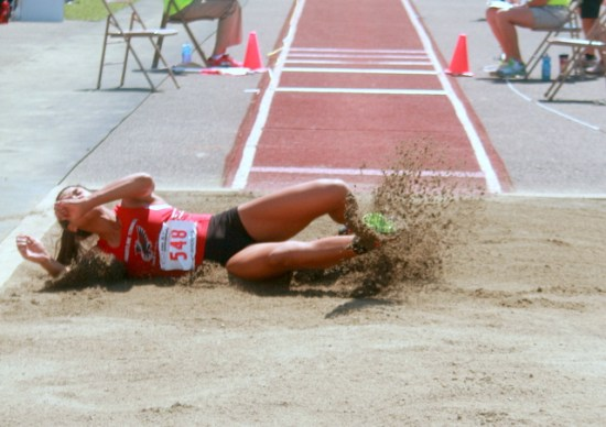 Mountlake Terrace's Chinne Okoronkwo won the triple jump with a state meet record leap of 41 feet, 10.25 inches.