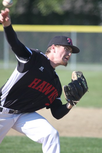 Mountlake Terrace senior Jesse Prothero earned the victory on the mound Thursday with his first complete game of the season. (Photo by Jenny Serres)