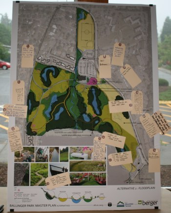 Residents could pick out their favorite elements in each of the three preliminary plans.