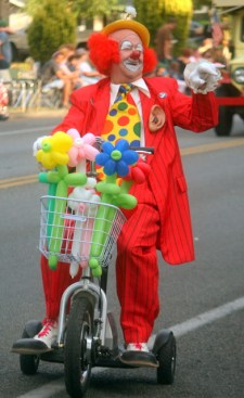 It wouldn't be a parade without a clown.