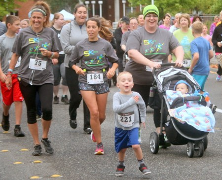 Runners of all ages participated in Saturday's Fun Run/Walk.