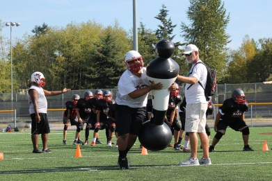 The Mountlake Terrace Hawks football team has been able to utilize all new equipment during their two weeks of preseason practices; on Friday, Sept. 2, they get to hit really opponents as the Hawks will open their 2016 season at home against the Sehome Mariners.
