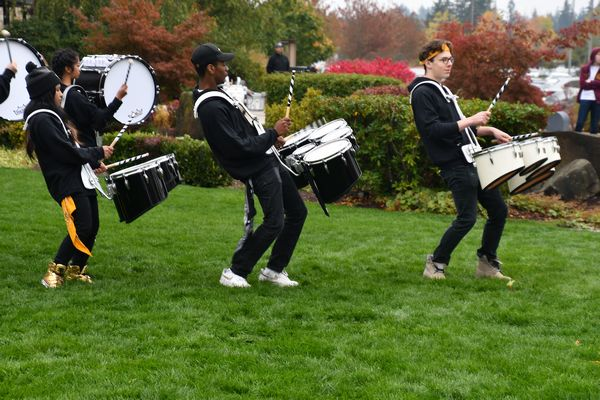 A high-energy performance from the Lynnwood High School drum line.
