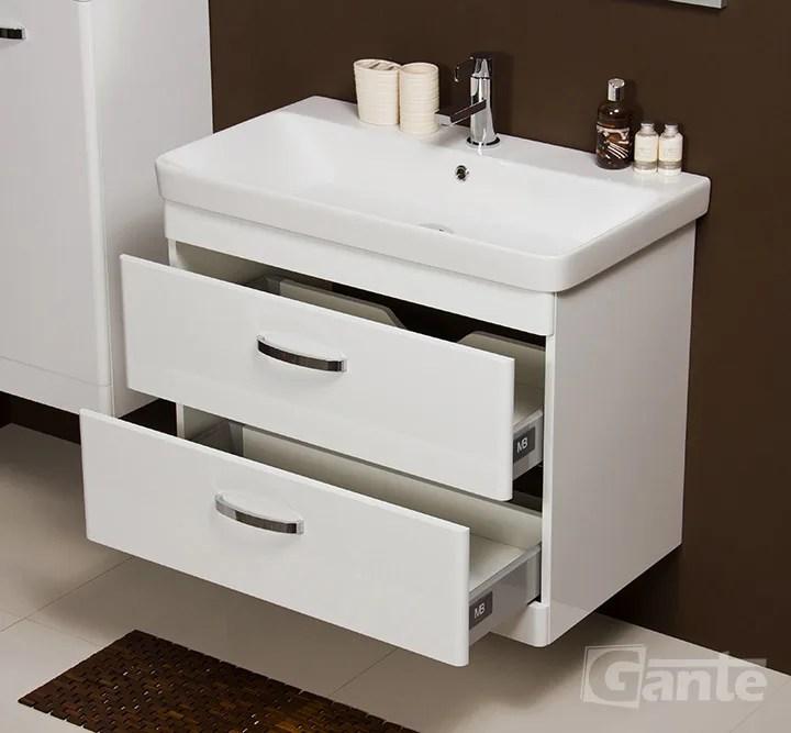 Vanity Unit Lissa 80cm + Basin Lucianna 80cm White - bathroomfurniture