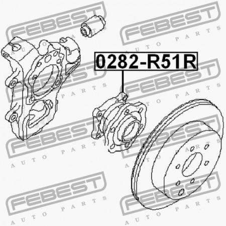 Mozo Trasero Nissan Pathfinder R51 Febest Nissan